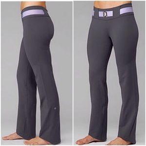 Lululemon Gray Belt It Out Yoga Pants